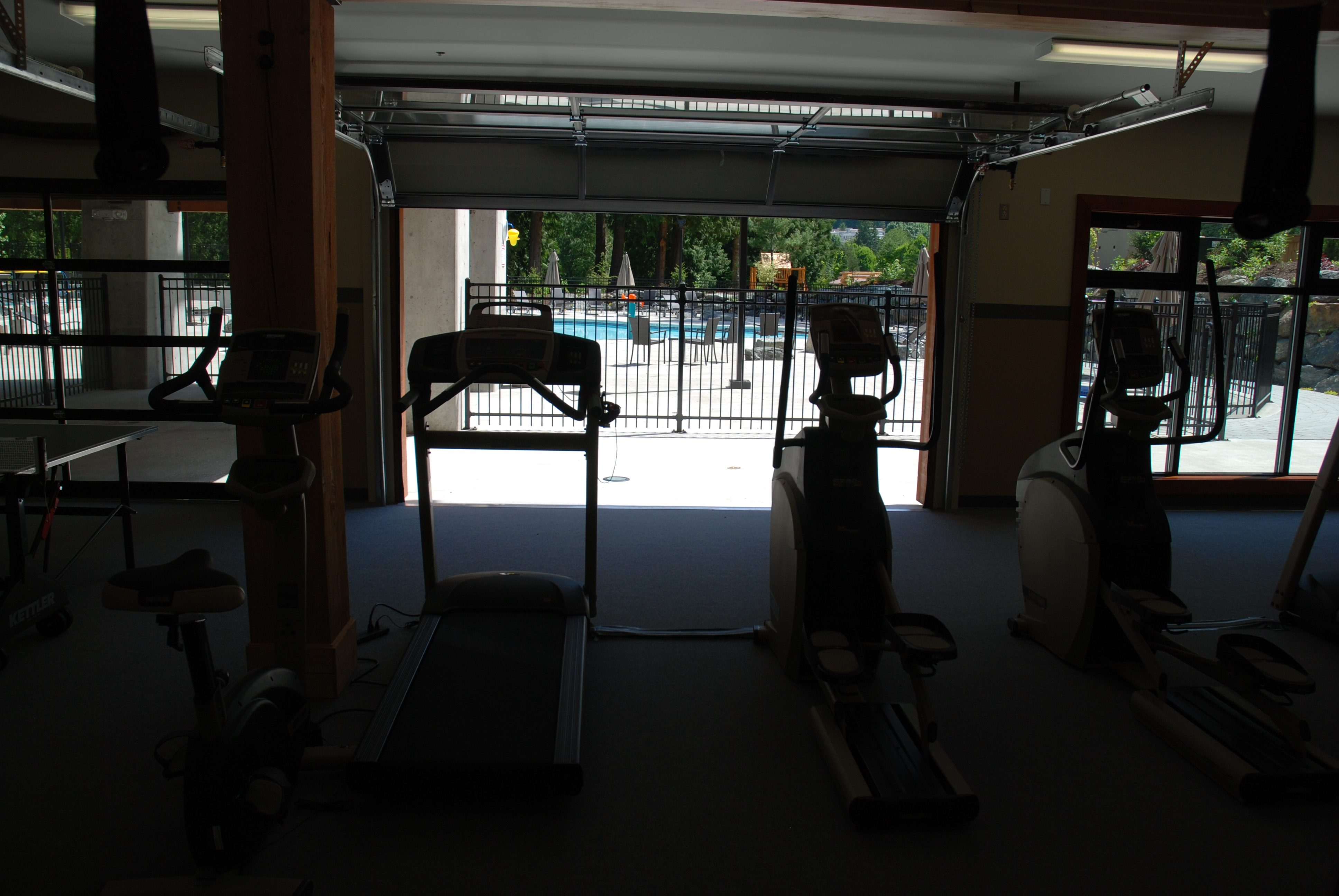 The cottages at cultus lake fitness room gym